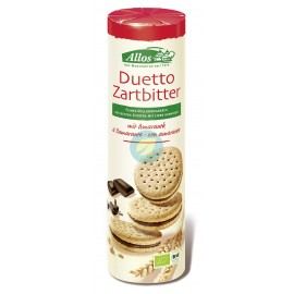 Galletas Duetto Rellenas de Crema de Chocolate Negro 330g Allos