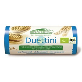 Mini Galletas Duetto Rellenas con Crema de Cacao 90g Allos