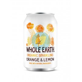 Refresco de Naranja y Limón sin Azúcar 330ml Whole Earth